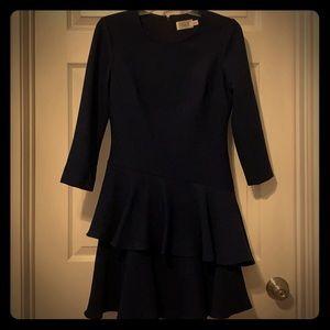 Eliza J navy ruffled party dress